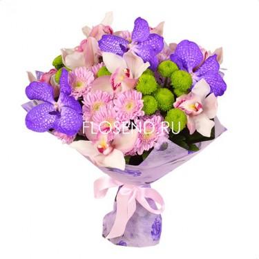 Сборный букет с орхидеями